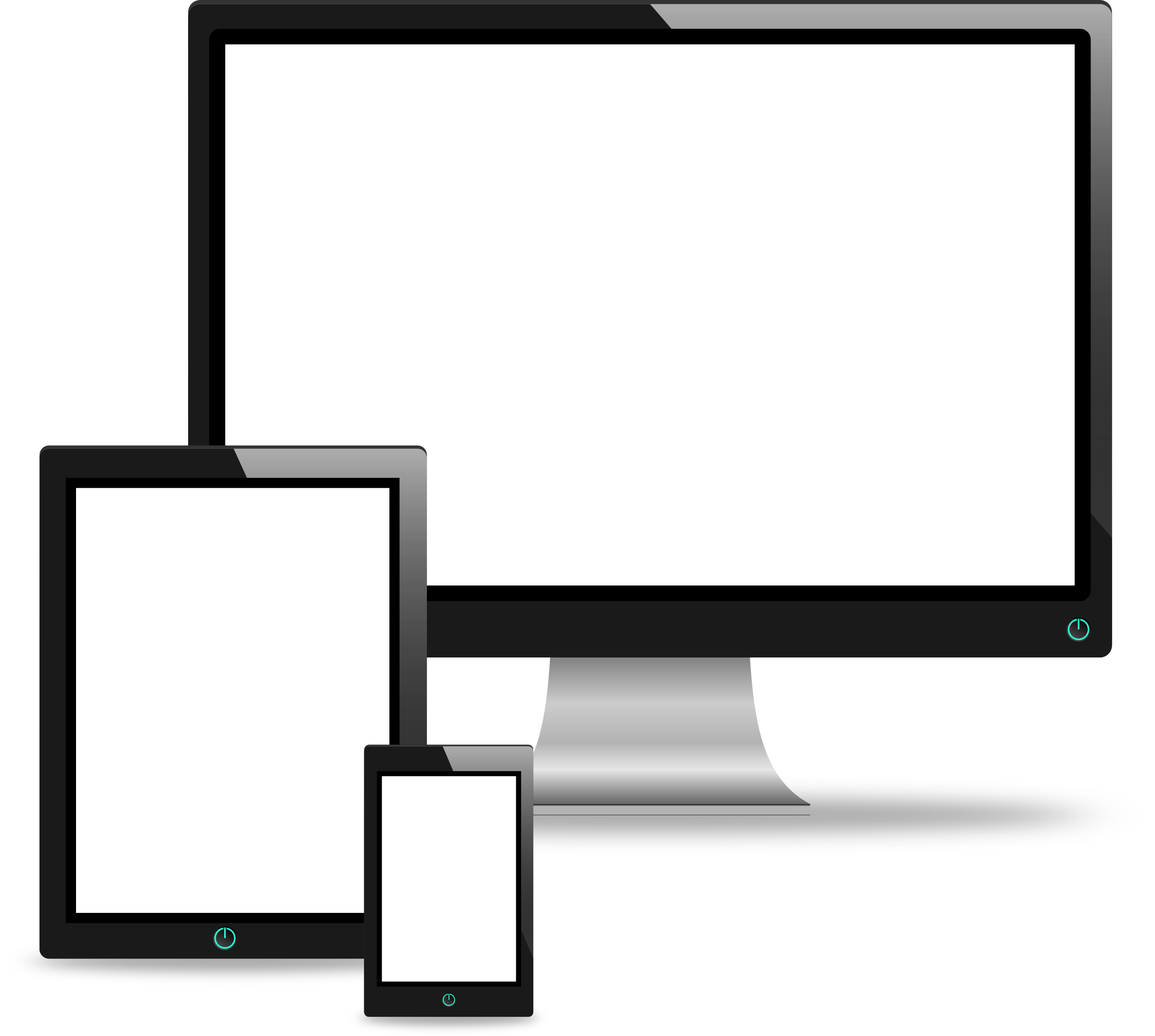 2400x2154 Computer, Tablet And Phone Vectors Icons Png