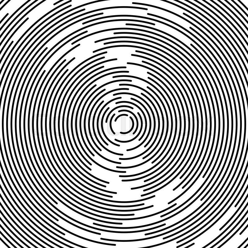 800x800 Concentric Circles Abstract Element. Radiating, Radial Circles