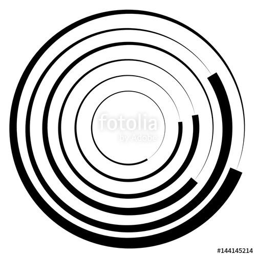 500x500 Concentric Circles Geometric Element. Radial, Radiating Circular