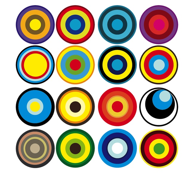 646x584 Concentric Circles Like Shot Targets Vector Free Download
