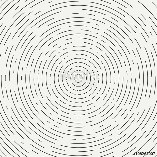 500x500 Abstract Segmented Geometric Circle Shape. Radial Concentric