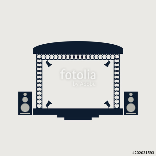 500x500 Concert Stage And Musical Equipment. Stock Image And Royalty Free