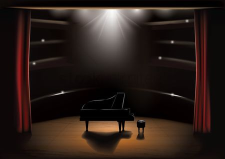 450x318 Free Concert Stage Stock Vectors Stockunlimited