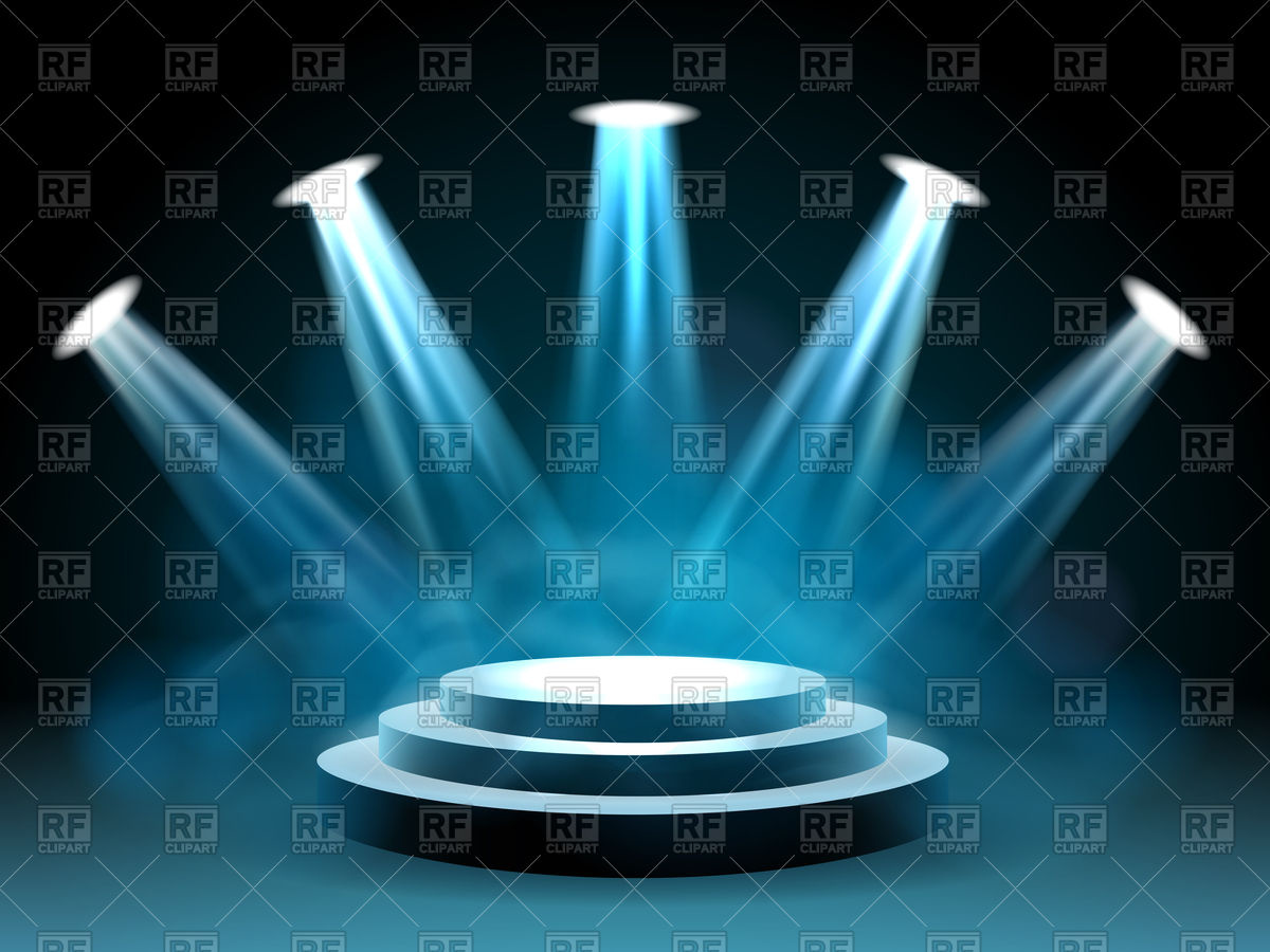 1200x900 Hollywood Lighting Stage Concert With Lights Vector Image Vector