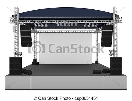 450x344 Outdoor Concert Stage Clipart