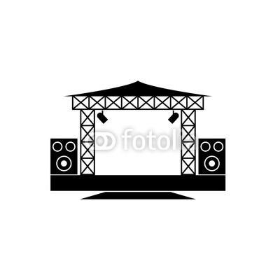 400x400 Outdoor Concert Stage Vector Icon Buy Photos Ap Images