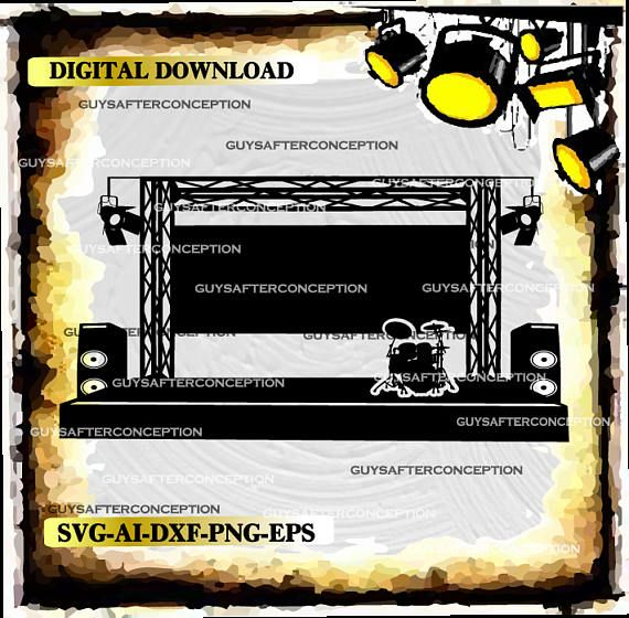 570x560 Concert Music Stage Vector Images Svg Files Digital Cutting Files