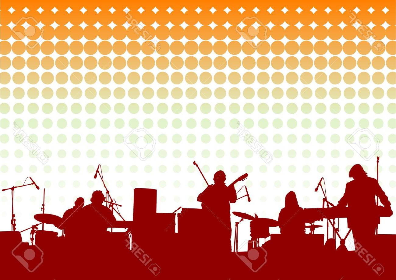 1300x919 Top 10 Vector Drawing Musical Group In Concert On Stage Design