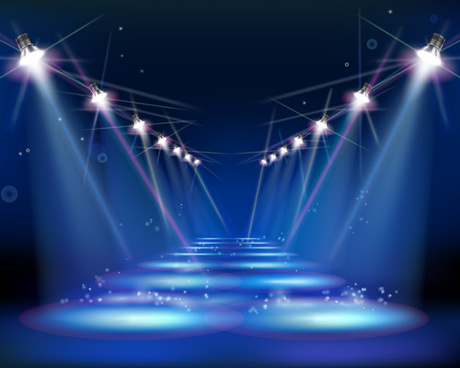 460x368 Vector Concert Spotlight Stage Free Vector Download (562 Free