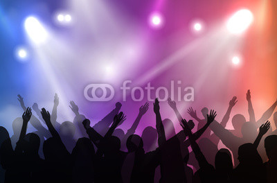 400x264 Vector Concert Stage Illuminated With Colorful Lights And