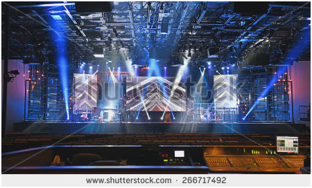 450x272 Concert Stage Diorama Lighting Fabulous Stage Design Stock Royalty