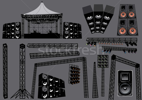 600x424 Concert Stage Vector Illustration Ann Verboven (Ultrapop