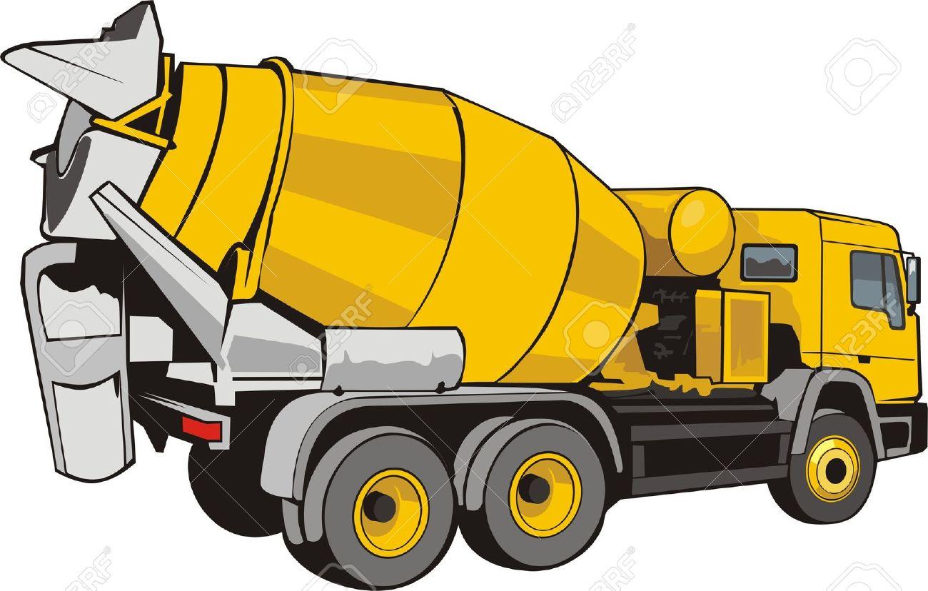 Concrete Truck Vector