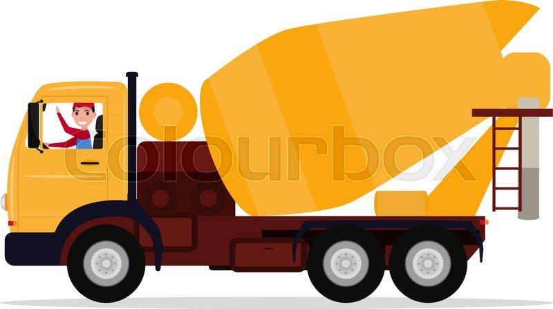 800x447 Vector Illustration Cartoon Character Driver Man On A Truck