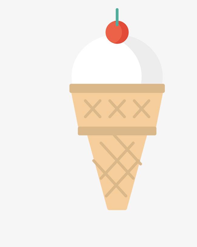 650x817 Vector Color Summer Ice Cream Cone, Color Vector, Summer Vector