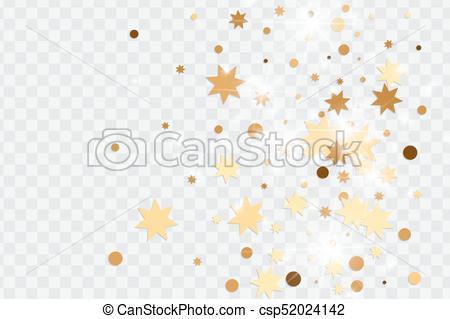 450x319 Transparent., Dorado, Confeti, Vector, Aislado. Puntos,... Vector