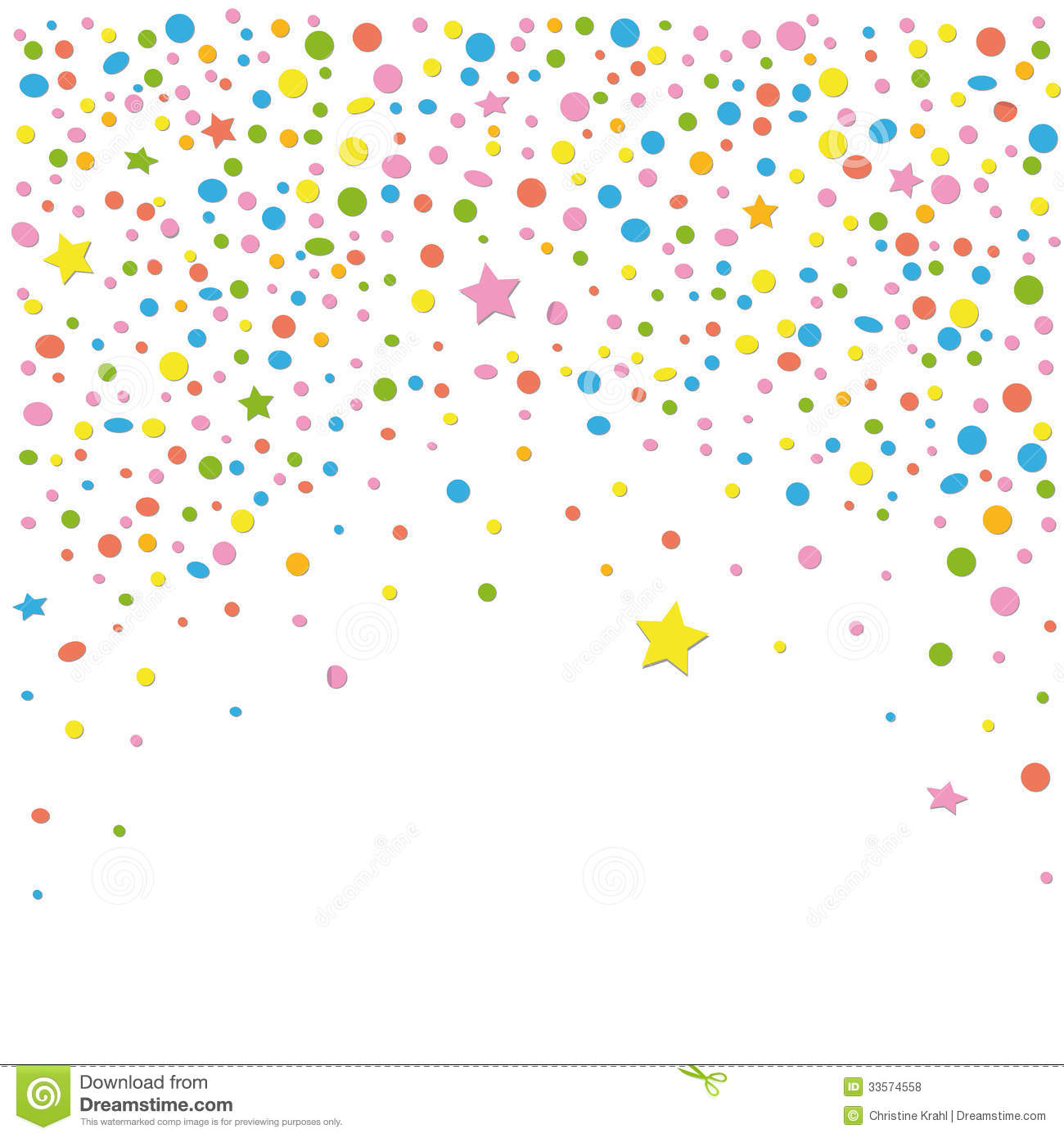 Confetti Vector Art