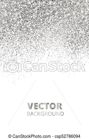 299x470 Falling Glitter Confetti. Vector Silver Dust, Explosion Isolated