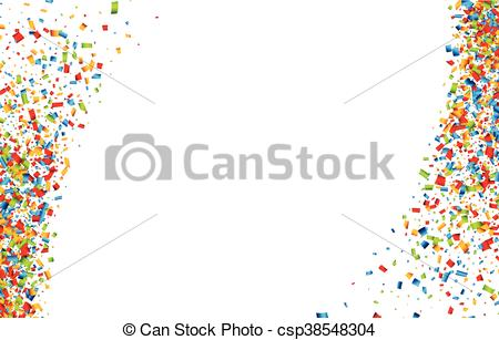 450x307 White Background With Confetti. White Festive Background With