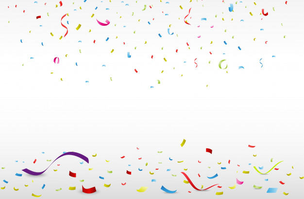 626x409 Celebration Background With Colorful Confetti Vector Premium