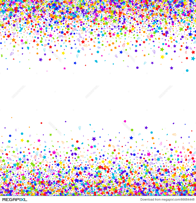 800x830 Confetti Vector Background Illustration 66684448