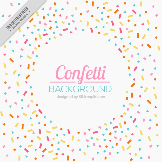 626x626 Beautiful Celebration Background With Confetti Vector Free Download