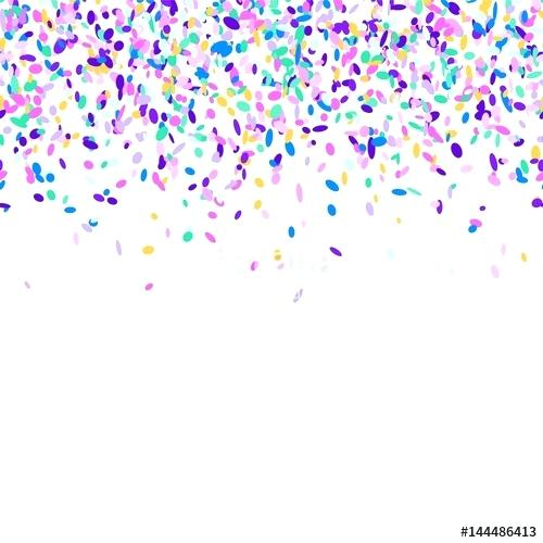 500x500 Sprinkles Falling And Abstract Background With Colorful Confetti