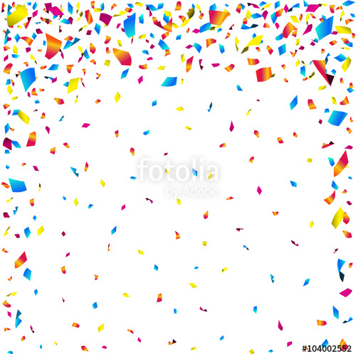 500x500 Celebration Background With Colorful Falling Confetti. Vector
