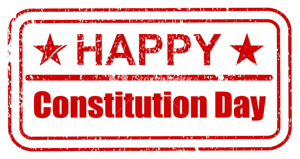1000x530 Stamp Constitution Day Vector Illustration Royalty Free Stock