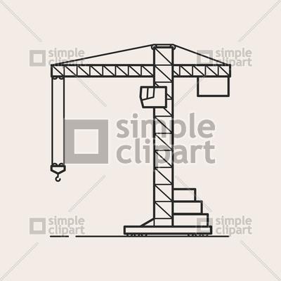 400x400 Construction Crane Vector Image