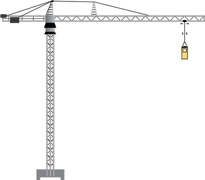 400x351 Crane Vector