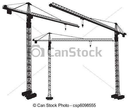 450x378 Elevating Construction Crane Vector.