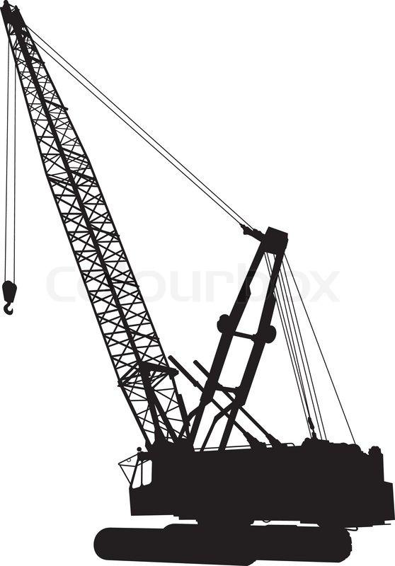 558x800 Silhouette Of Construction Crane Stock Vector Colourbox