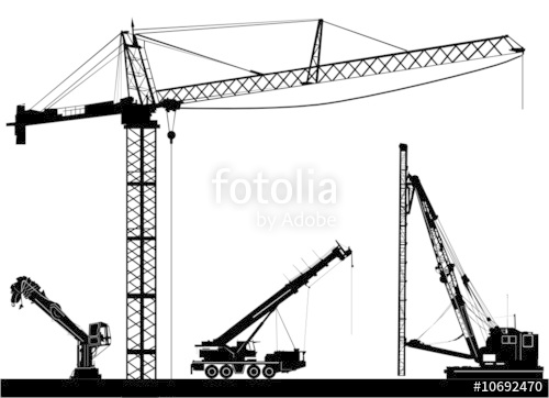 500x362 Construction Crane Vector Stock Image And Royalty Free Vector