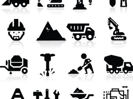 452x336 Construction Equipment Icons Vector Free Construction Equipment