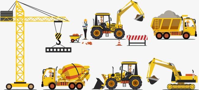650x296 Vector Construction Equipment, Construction Vector, Construction