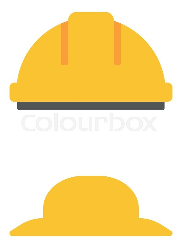 593x800 Hard Hat And Summer Hat Vector Flat Design Illustration Isolated
