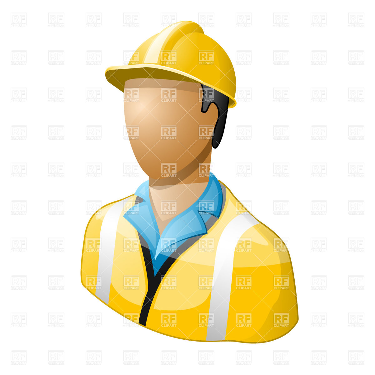 1200x1200 Icon Of Worker In Hard Hat Vector Image Vector Artwork Of People