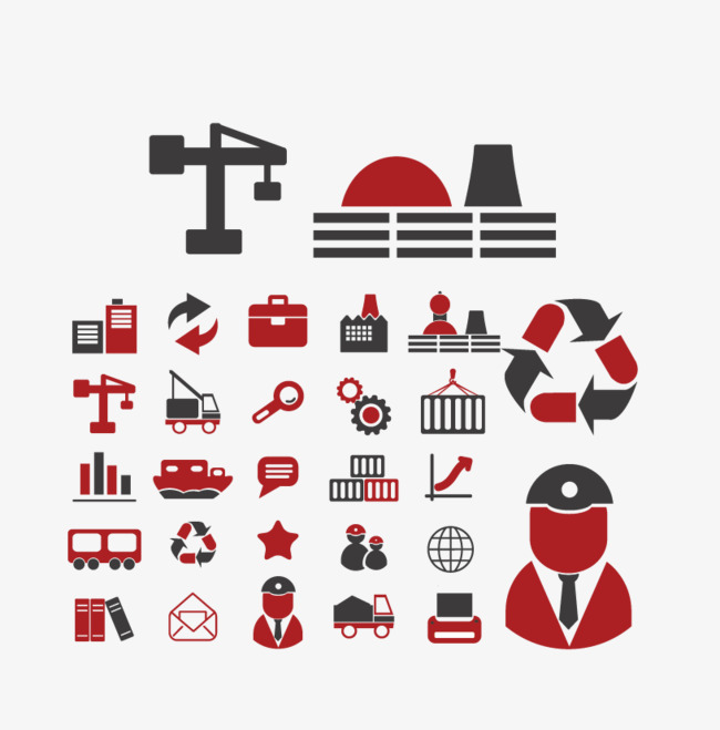 650x659 Building Construction Icon Collection, Building Vector