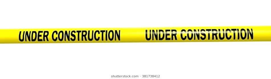 952x280 Construction Tape Under Construction Caution Tape Entrance