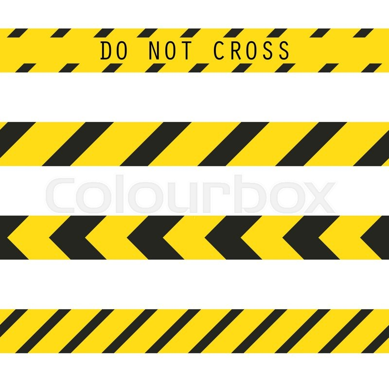 800x800 Do Not Cross The Line Caution Vector Tape. Seamless Police Warning