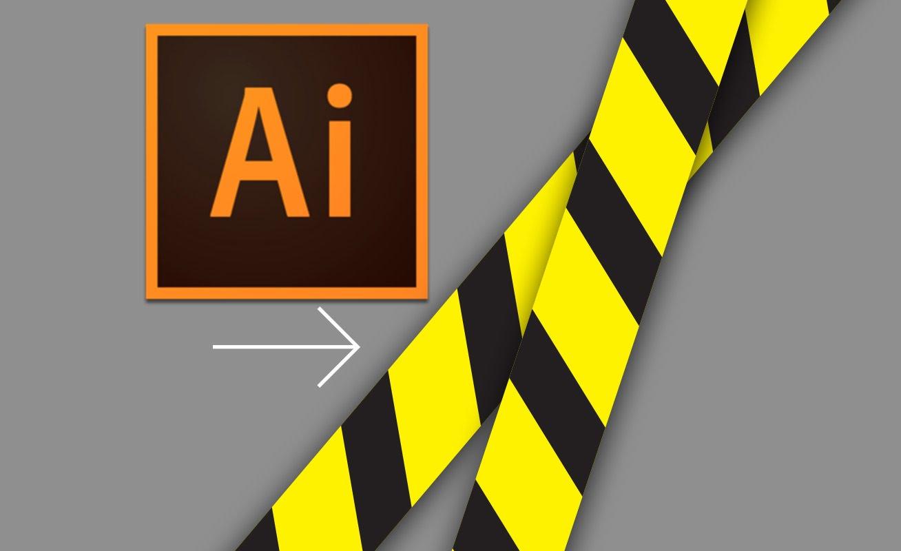 1308x800 How To Make Vector Caution Tape In Illustrator Design Ninja