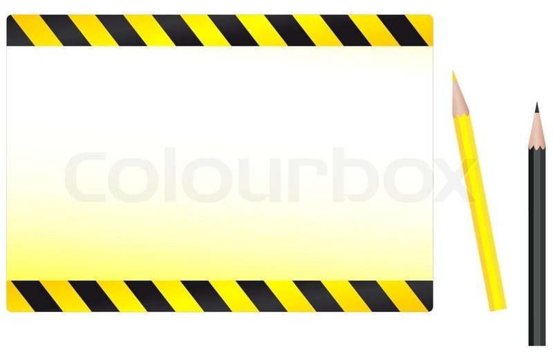 800x509 Modern Construction Background With Yellow And Black Pencil
