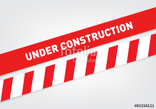 500x350 Under Construction Tape Stock Image And Royalty Free Vector Files