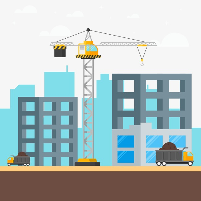 650x650 Construction Scene, Flat, Construction Vector Png And Vector For
