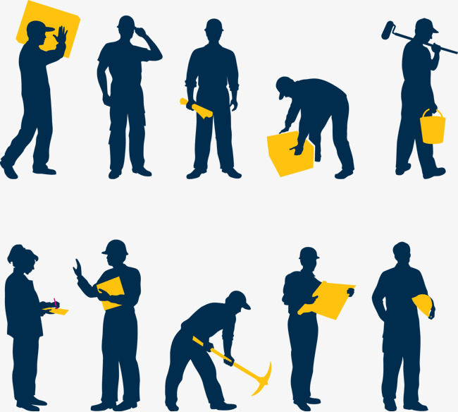 650x584 Construction Workers Vector Material Free Download, Construction