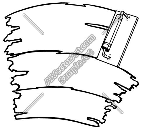 500x439 Trowel Clipart And Vectorart Construction