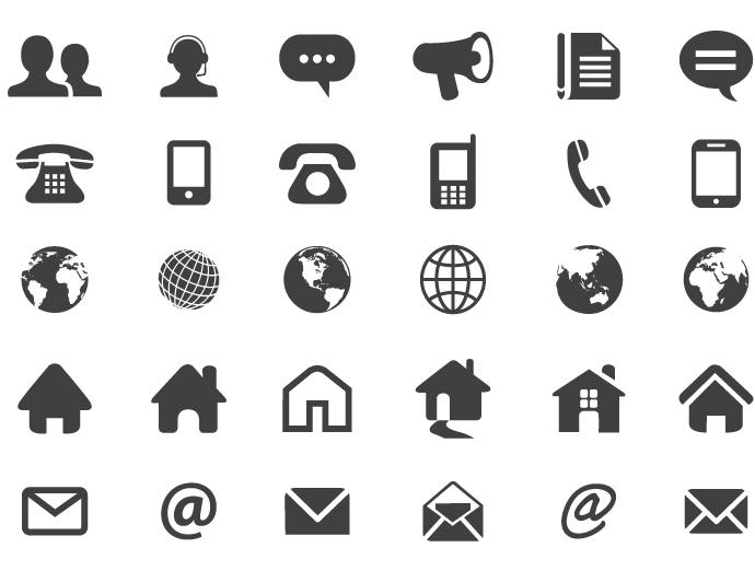 690x522 Contact Flat Icons