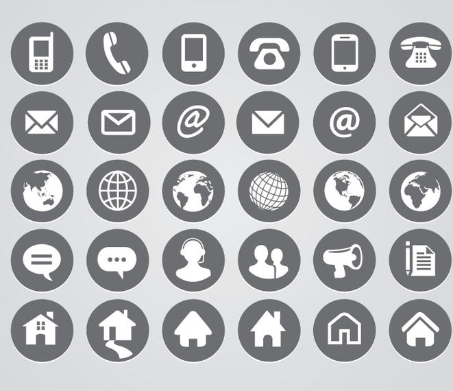 661x570 Rounded Contact Icons