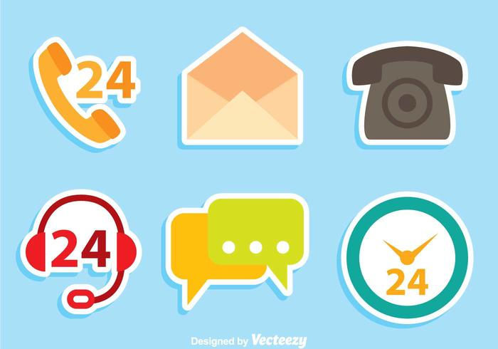 700x490 Contact Us Flat Icons